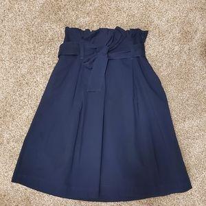 Banana Republic navy tie waist skirt